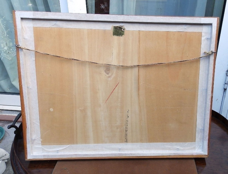Antique A good Maltese framed Watercolour signed & dated Galea C.1965