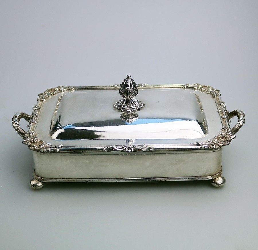 Antique Silver Plate scarce Regency Old Sheffield Plate Cheese / Bacon Dish 1825