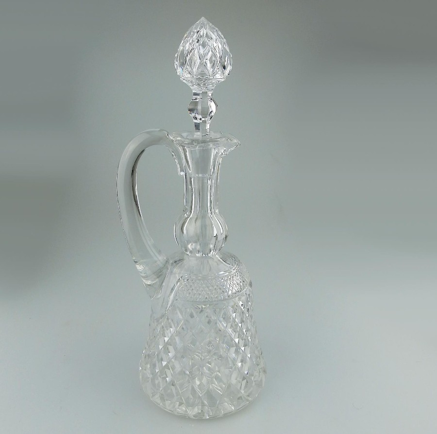 Cut Glass : A good quality Bell shaped crystal Claret Jug C.early 20thC