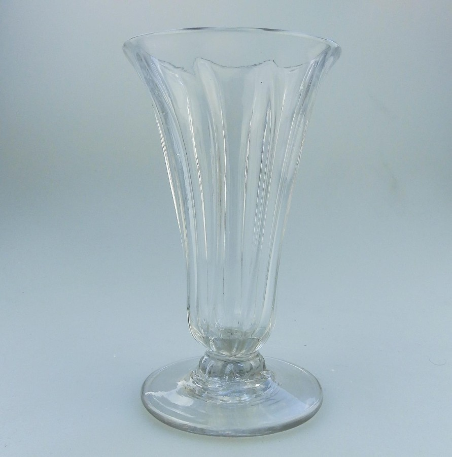 Antique Antique Georgian Glass An attractive rib moulded Jelly Glass C.18thC