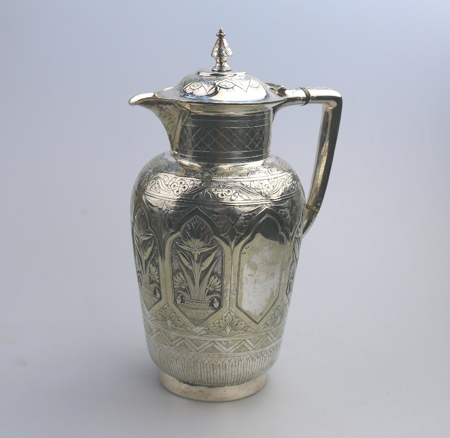 Antique Silver Plate Exceptional quality Aesthetic Period large Jug C.1870