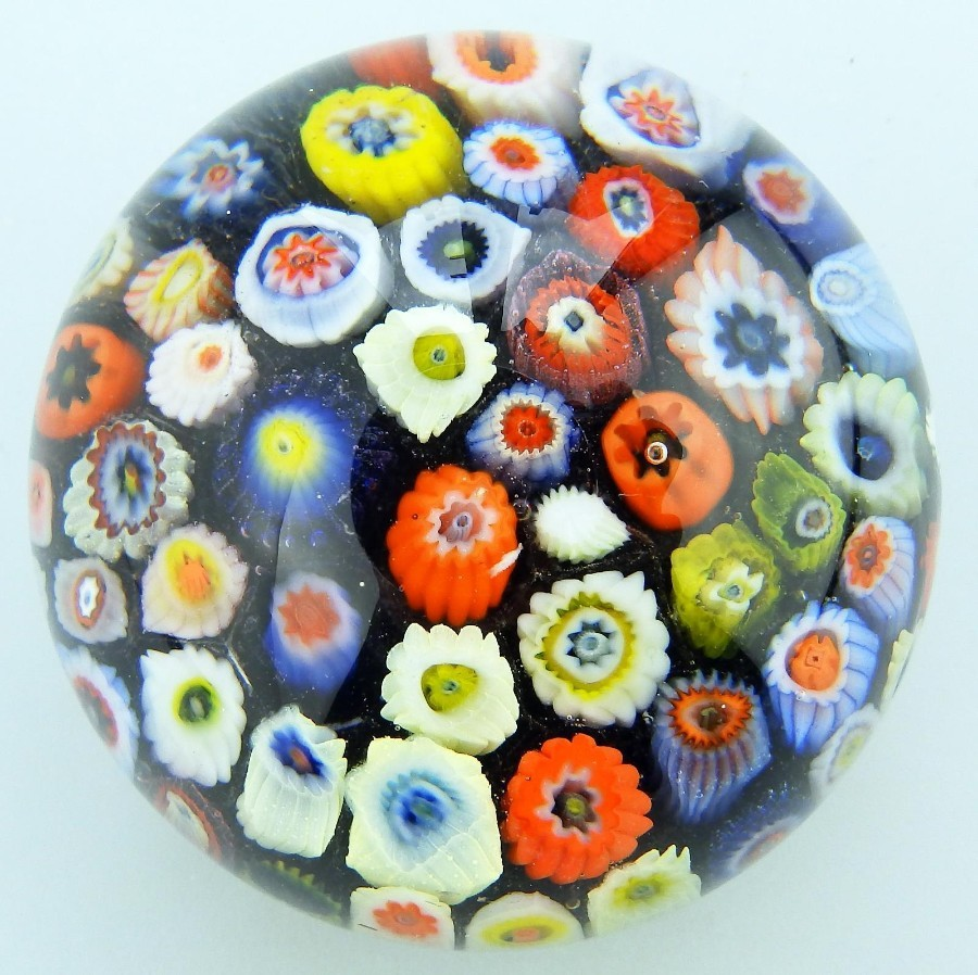 Vintage Scottish Glass Paperweights : Strathearn millefiori cane Mid 20thC