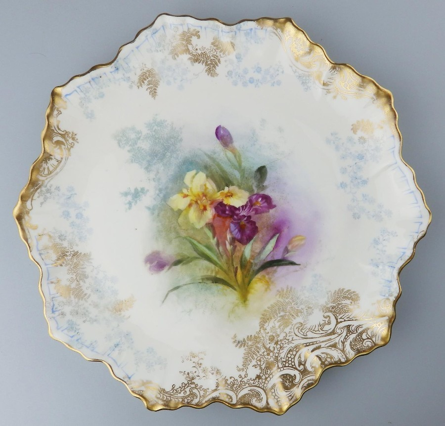 Royal Doulton Burslem British Art Pottery hand painted Dessert Plate No.5 C1900