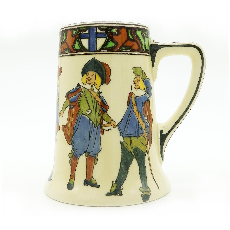 Royal Doulton Antique Porcelain Series Ware Tankard Dumas 3 Musketeers C.1930