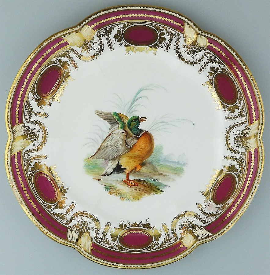 A fine antique English Porcelain John Rose Plate circa 19thC