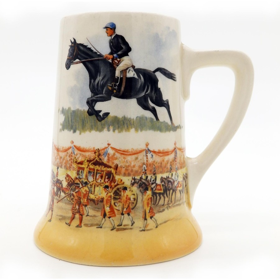 Royal Doulton Antique Porcelain Limited Edition Commemorative Tankard Grand National Winner C.193...