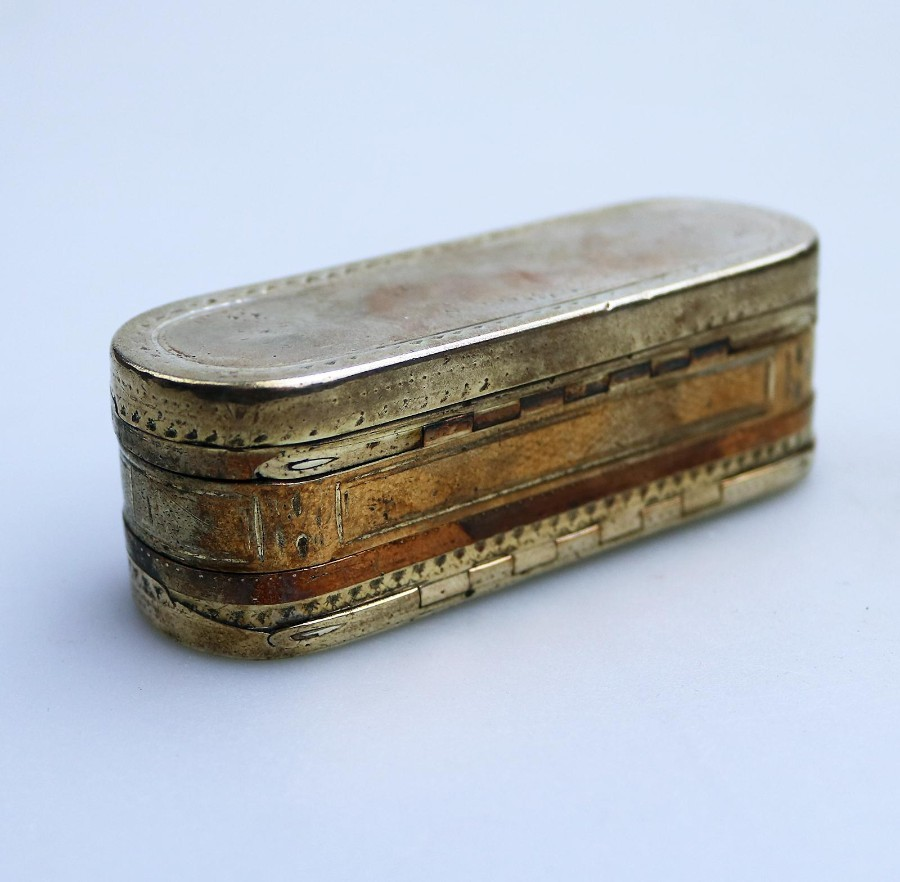 Antique Boxes novelty unusual 4 hinged Tobacco / Magicians ? Box C.18thC