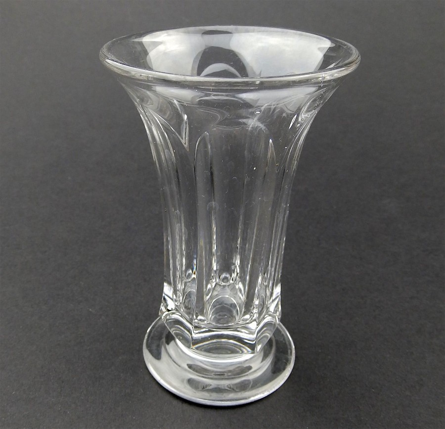 Antique English Glass : Slice cut Jelly Glass C. 19thC
