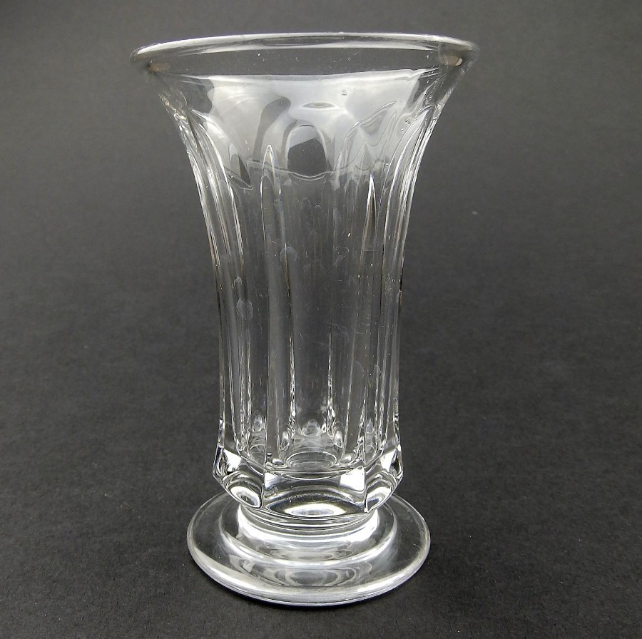 Antique Antique English Glass : Slice cut Jelly Glass C. 19thC