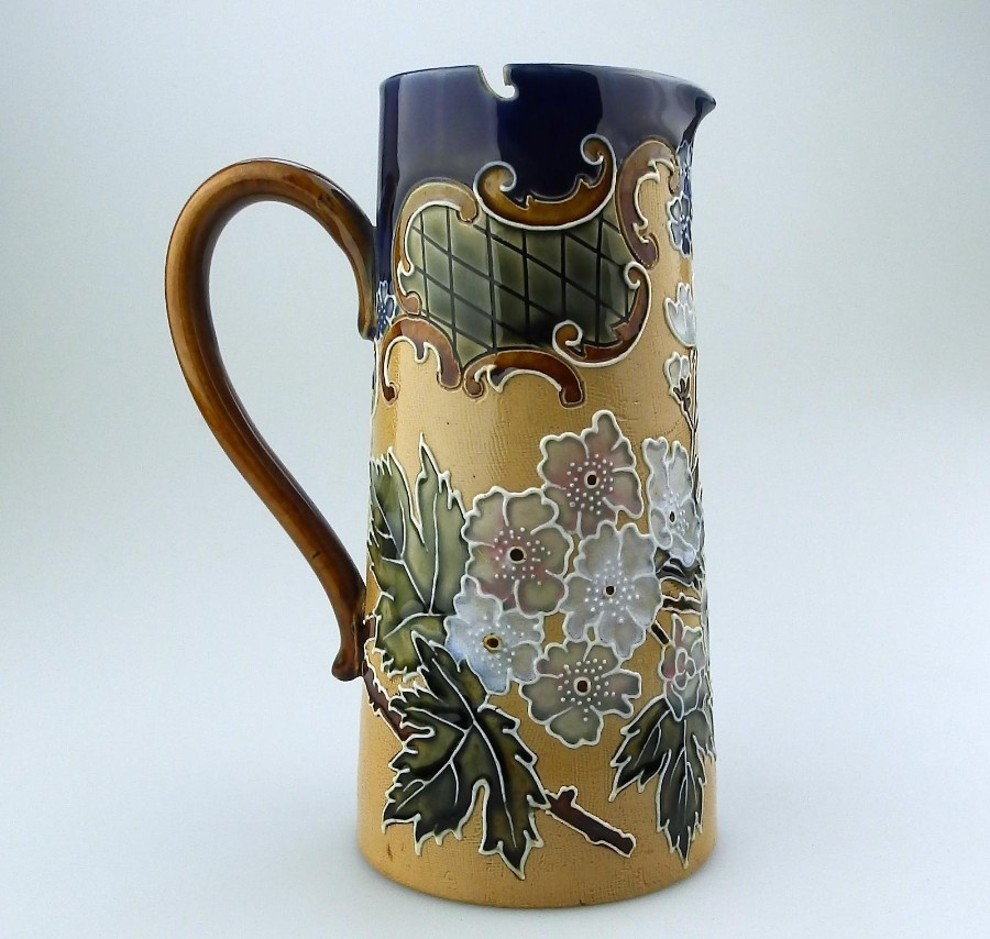 Doulton Lambeth British Art Pottery a Highly decorated Stoneware Jug C. 19thC