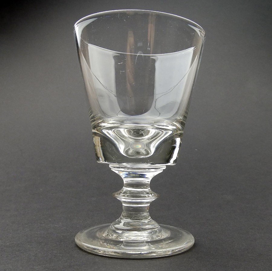 Antique Glass : A heavy small Deceptive Glass Rummer C.19thC
