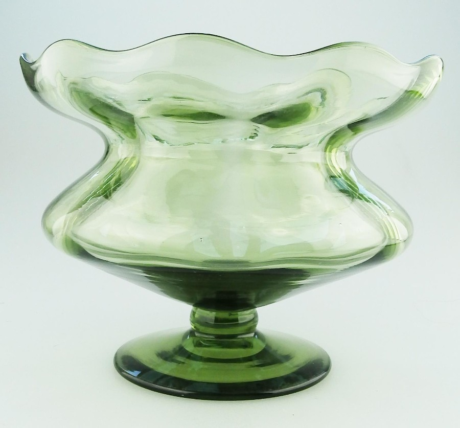 Antique Art Nouveau Glass a James Powell pedestal flower Glass C.1890-1900