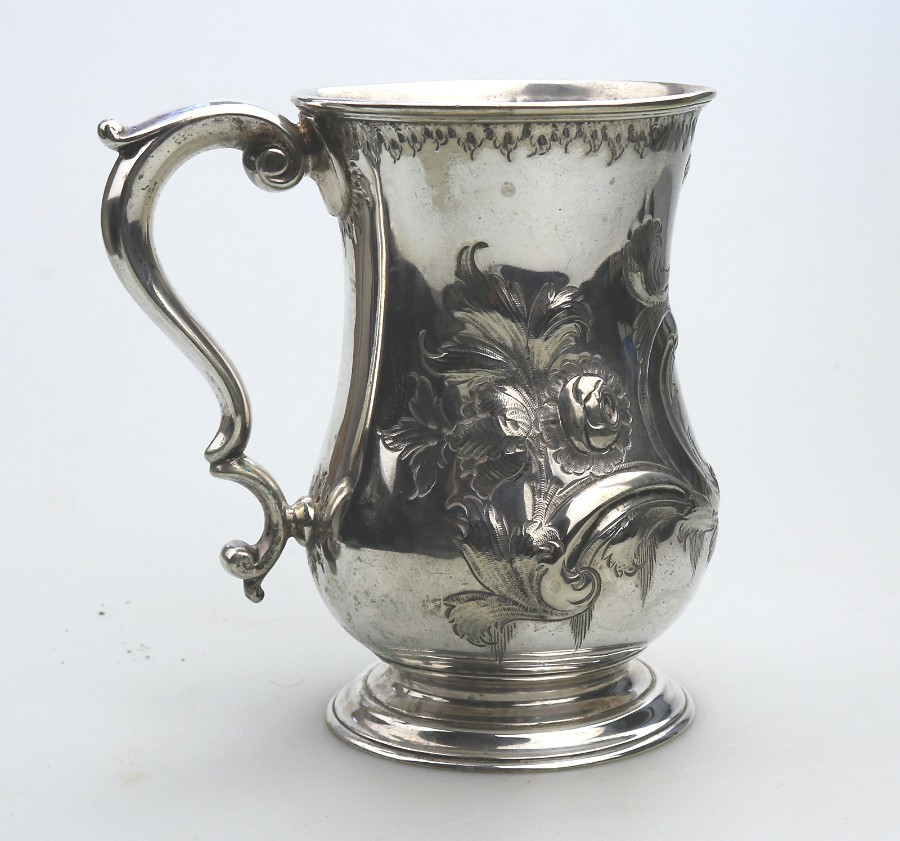 Antique Silver Plate large Victorian pint Beer Tankard Martin Hall & Co C.19thC