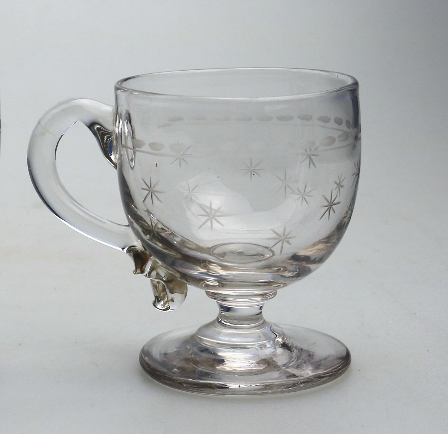 Antique Glass fine Stourbridge type Custard Cup C.19thC