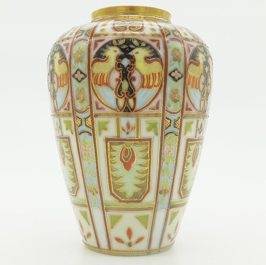 Antique Liberty & Co a rare wonderful Nippon Art Deco hand painted Vase 2 C.1920's