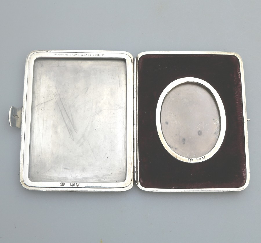 Antique Solid Silver Rare double Travelling pocket Picture Case Early Asprey C.1893