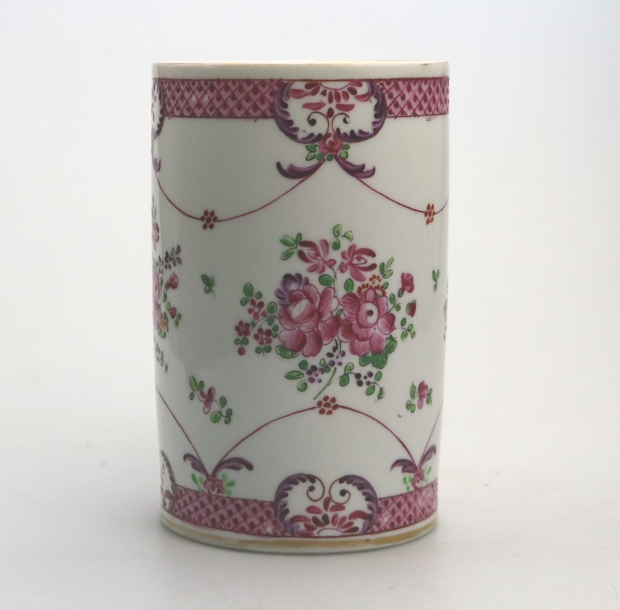 Antique Antique Chinese Famille Rose Porcelain large Tankard signed C.19thC