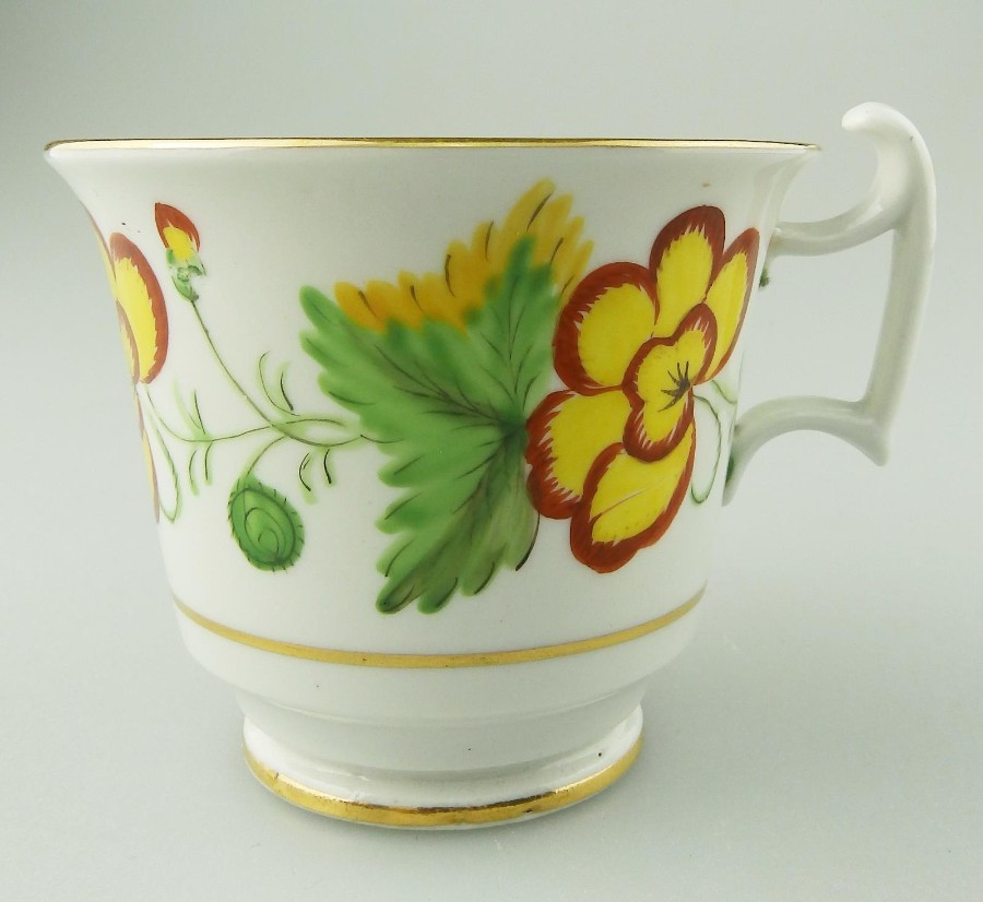 Antique Spode English Porcelain an unusual hand painted Coffee Cup 1800-1820