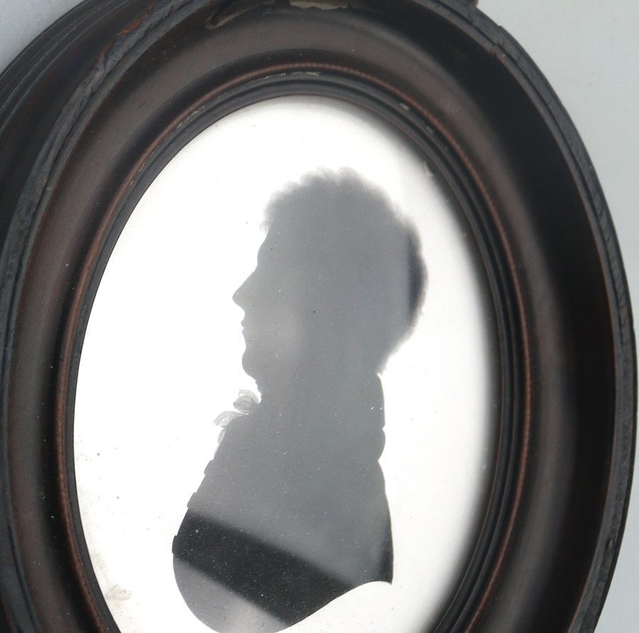 Antique Antique Silhouette : Attributed John Miers Portrait - 2 C.early 19thC