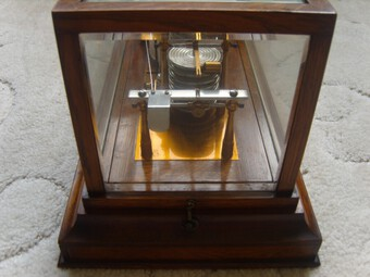Antique Antique Barograph by Sewills of Liverpool, from a sale of items in Tregada House, Cornwall (182)
