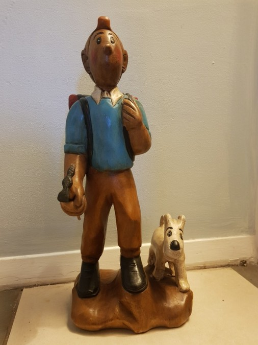 Wooden TinTin and Snowy