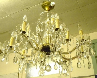Antique French Glass and Crystal Chandelier [Ref:19870-221-2]