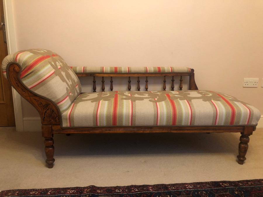 Original Edwardian Chaise Longue Day Bed