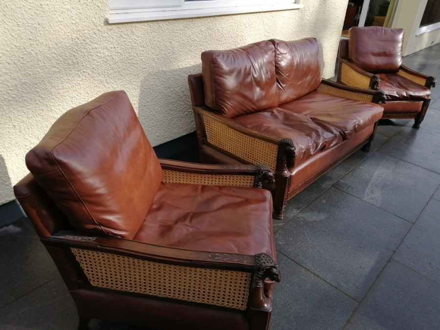 Bergere Suite , Sofa and Two chairs