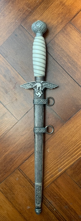 WW2 German Luftwaffe Dagger - Artificial Damascus