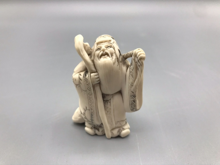 Finely Carved Ivory Netsuke 19th Century Japan