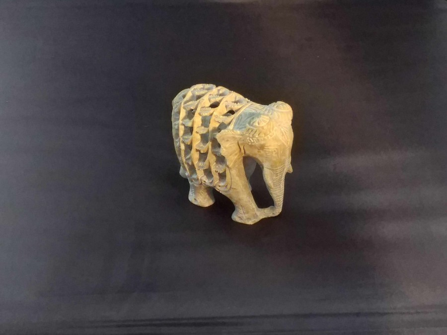Indian crafted soapstone elephant