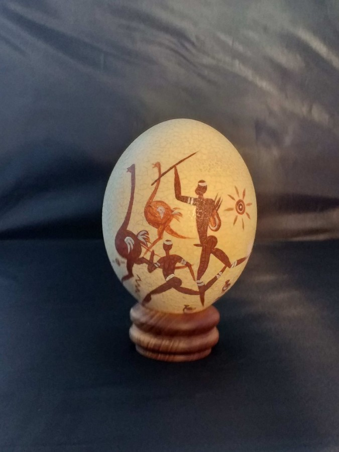 Ornate Ostrich egg