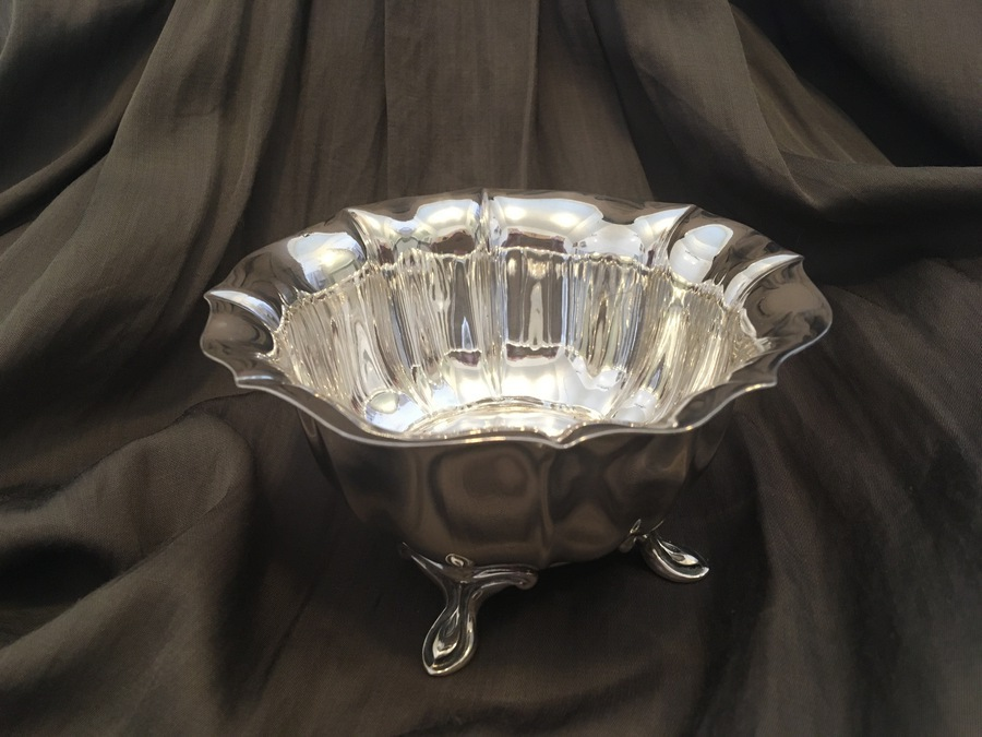 Antique Scottish Provincial Silver Bowl 1902 by James Ramsay - made in Dundee, assayed in Sheffield