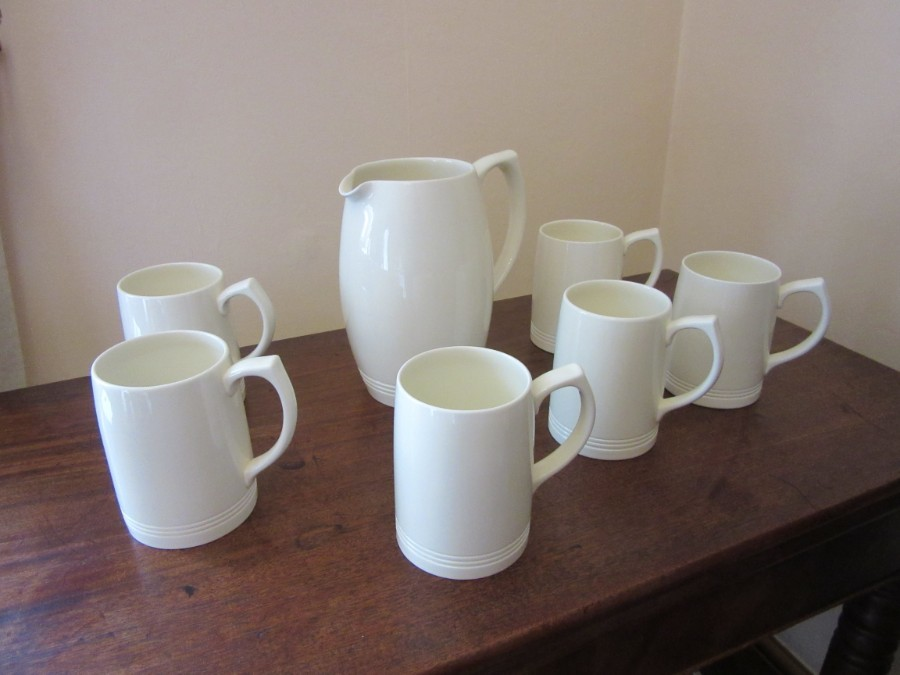 Keith Murray Wedgwood Lemonade set of Jug and six tankards