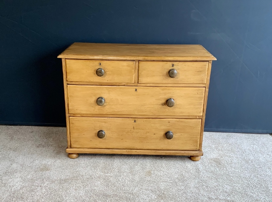 Circa 1860 Victorian Pine Chest of Drawers