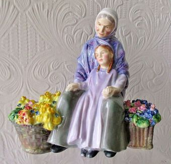 "Antique Royal Doulton English Porcelain Figurine ~ ""Granny's Heritage"" ~ HN 2031"