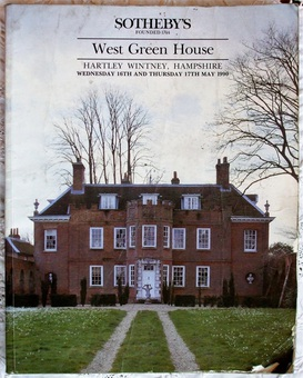 Antique Sotheby's ~ The Contents of West Green House, Hartley Wintney, Hampshire ~ 16. - 17. 05. 1990