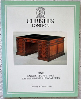 Antique Christie's ~ Fine English Furniture, Eastern Rugs and Carpets ~ London ~ 30. 10. 1986