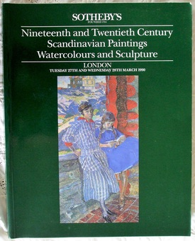Antique Sotheby's ~ Nineteenth and Twentieth Century Scandinavian Paintings, Watercolours and Sculpture ~ London ~ 27. - 28. 03. 1990