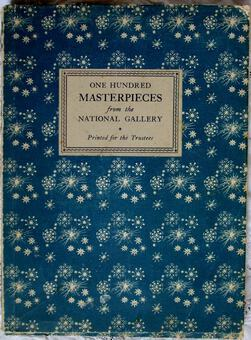 Antique One Hundred Masterpieces from The National Gallery ~ London ~ 1937