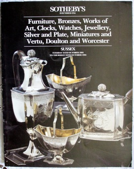Antique Sotheby's ~ Antiques and Collectables ~ Sussex ~ 15. - 24. 10. 1991
