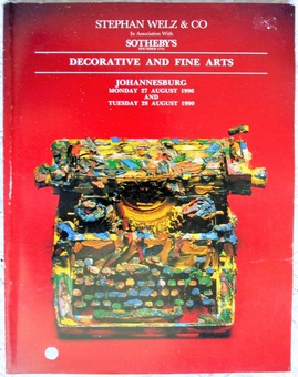 Antique Stephan Weltz / Sotheby's ~ Decorative and Fine Arts ~ Johannesburg ~ 27. - 28. 08. 1990