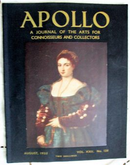 Antique Apollo ~ Vol. XXII ~ No. 128 ~ August 1935