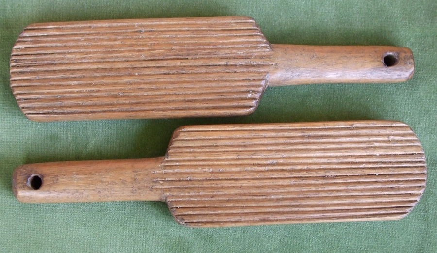 Antique Pair of Antique Welsh Victorian Sycamore Butter Pats