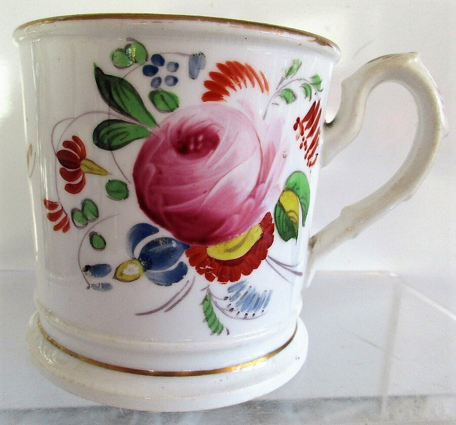 Antique English Victorian Porcelain Christening Mug ~ Thomas Cox