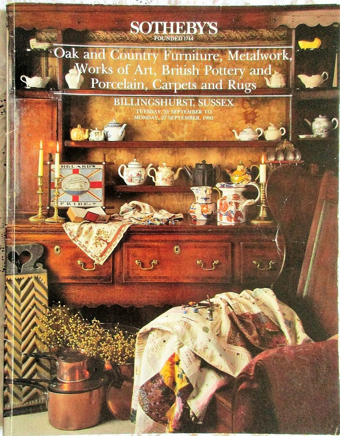 Sotheby's ~ Antiques and Collectables ~ Sussex ~ 21. - 27. 09. 1993