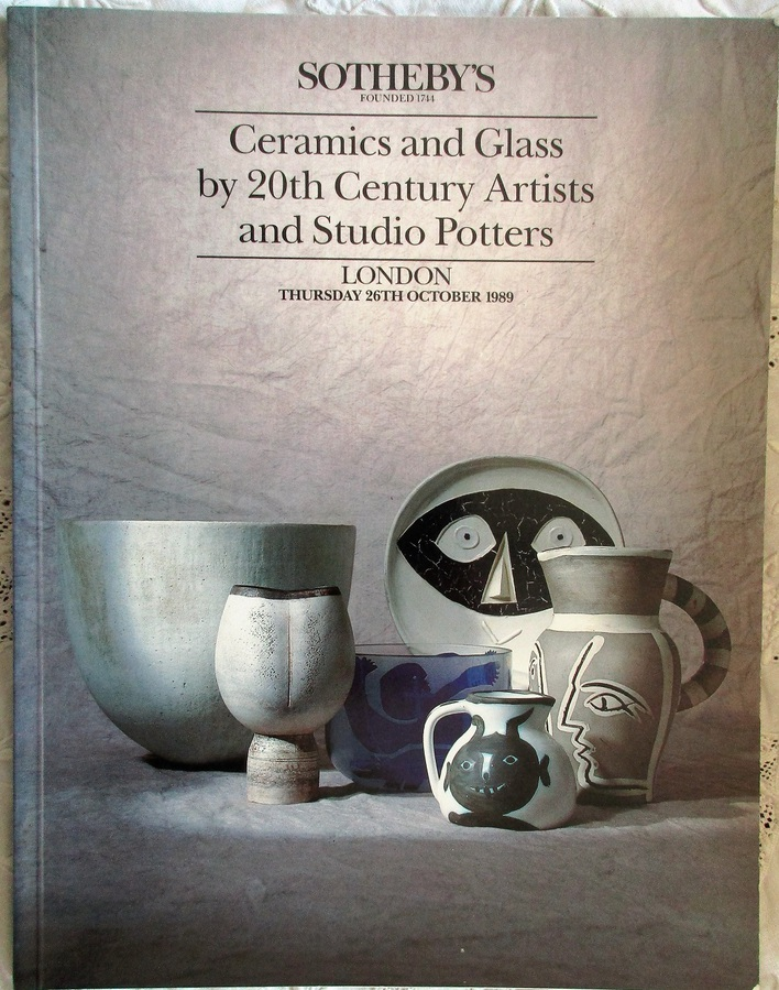 Sotheby's ~ Ceramics and Glass by 20th Century Artists and Studio Potters ~ London ~ 26. 10. 1989