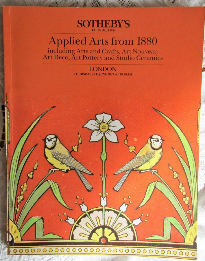 Sotheby's ~ Applied Arts from 1880 ~ London ~ 04. 06. 1987