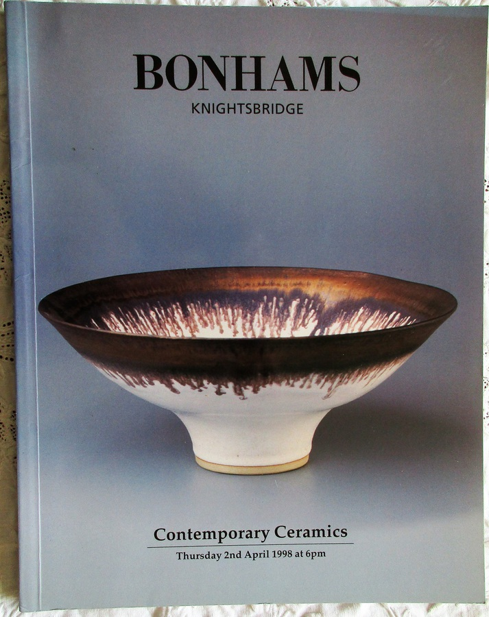 Antique Bonhams ~ Contemporary Ceramics ~ London ~ 02. 04. 1998