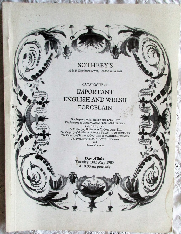 Sotheby's ~ Important English and Welsh Porcelain ~ London ~ 20. 05. 1980